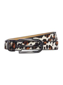 Multi coloured leopard belt