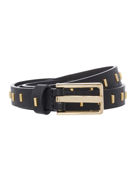 Stephen Collins Black with gold studs belt