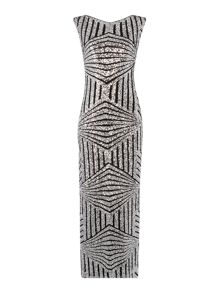Biba Fully sequin column maxi dress
