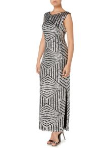 Fully sequin column maxi dress