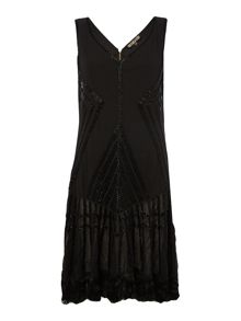 Biba Tassel detail fully embellished flapper