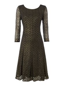 Biba Lace fit & flare dress
