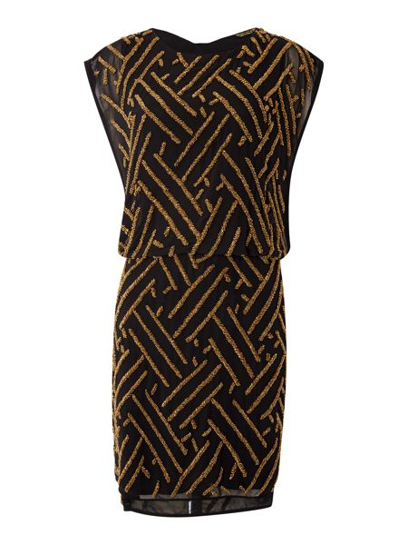 Biba Fully embellished tabard waisted dress
