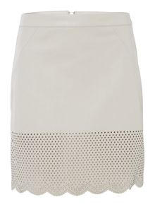Pu Laser Cut Skirt