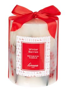 Winter berries botanical candle