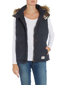 Brakeburn Gilet with fur trim hood