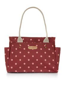 Polka dot pouch hand bag
