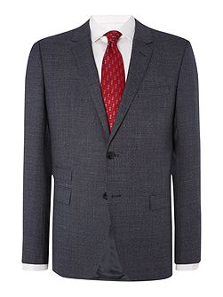 Rebel Steel Slim Fit Textured Suit