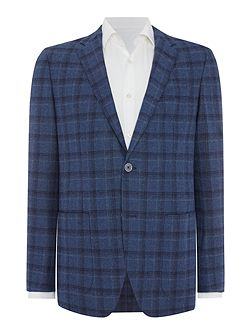 Blake Slim Fit Window Pane Check Blazer
