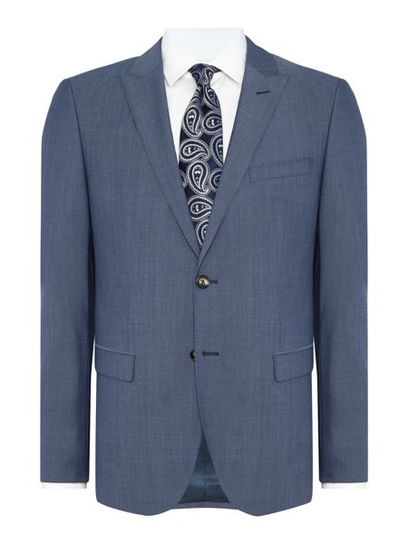 Tommy Hilfiger Ramey Steel Slim Fit Micro Pin Dot Suit