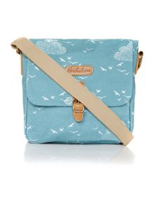 Birds and clouds cross body bag