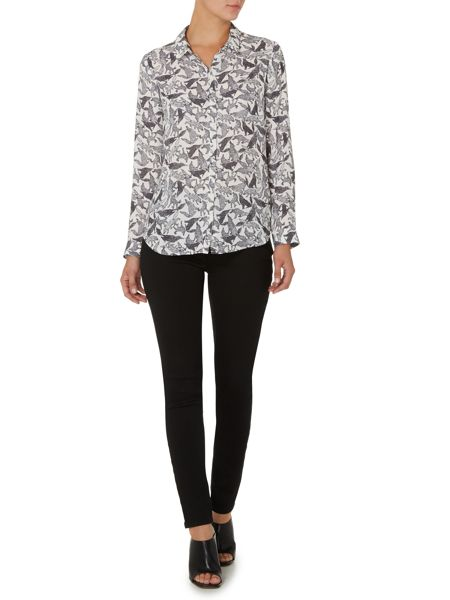 Pied a Terre Wolf print shirt