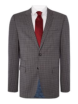 Rebel Steel Slim Fit Check Suit
