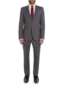 Tommy Hilfiger Rebel Steel Slim Fit Check Suit