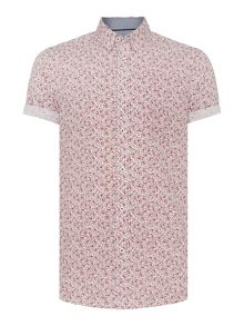Floral Classic Fit Short Sleeve Shirt