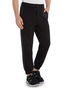 Tapered Fit perforated panel Tracksuit Bottoms