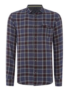 Armani Jeans Slim fit herringbone check shirt