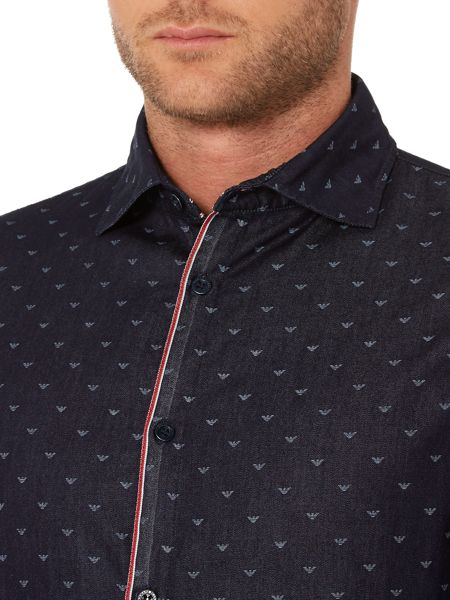 Armani Jeans Classic Fit all over logo printed shirt