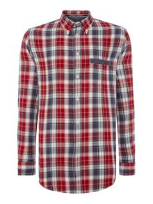 Armani Jeans Classic Fit Button Down check Shirt