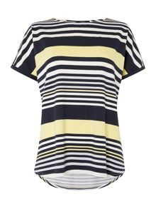 Variegated stripe t-shirt