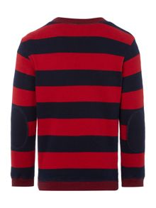 Lacoste Boys Striped Crew Neck Jumper