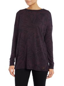 Barbour Ruskin burnout top