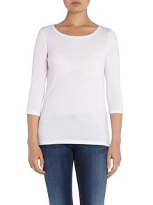 Hugo Boss 3/4 sleeve round neck top