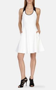Karen Millen Stretch cotton full skirted dress