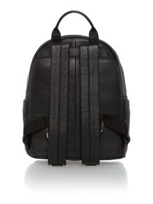 Logo embossed black backpack