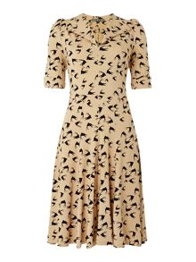 Biba Heritage Printed fit & flare jersey dress