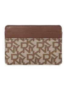 Coated logo neutral card holder