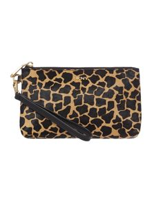 DKNY Halfcalf animal giraffe multi coloured pouchette