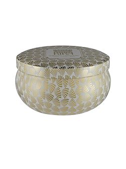 Sparkling champagne tin candle