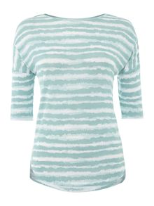 Wave Stripe Lightweight Jersey Top
