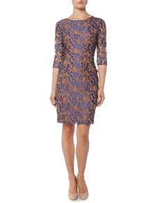 Linea Lace embroidered shift dress