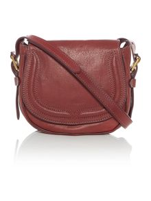 Modern moto red small flapover crossbody bag