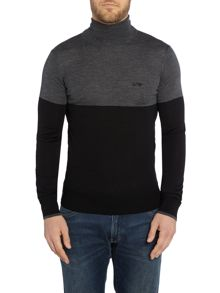 Plain Roll Neck Pull Over Jumpers
