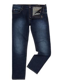 Armani Jeans J45 tapered slim fit dark rinse jean