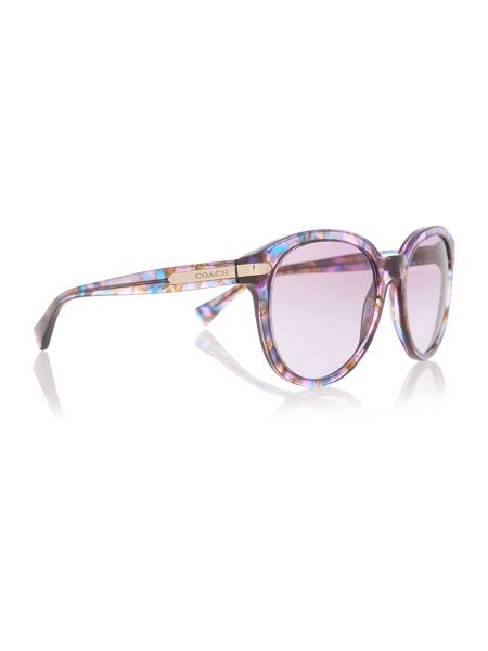 Coach HC8140 female purple round sunglasses