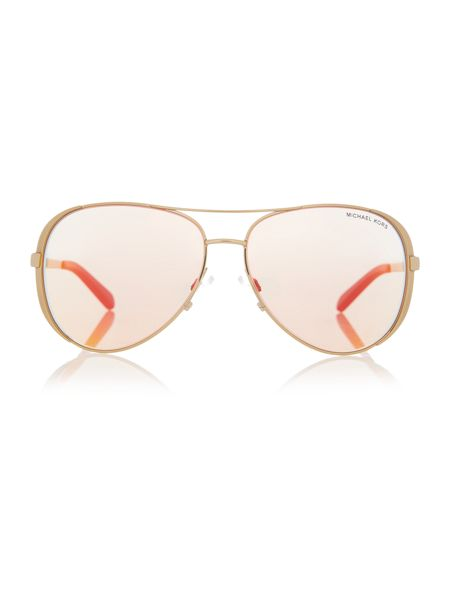 Michael Kors Mk5004 female gold aviator sunglasses