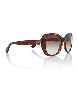 Ea4052 female brown square sunglasses