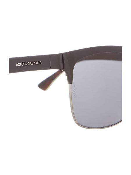Dolce&Gabbana Dg2148 male black square sunglasses