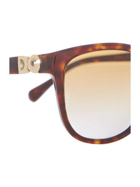 Dolce&Gabbana Dg4258 female brown square sunglasses
