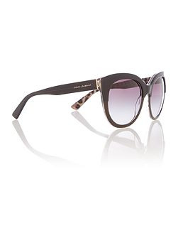 Dg4259 female black round sunglasses