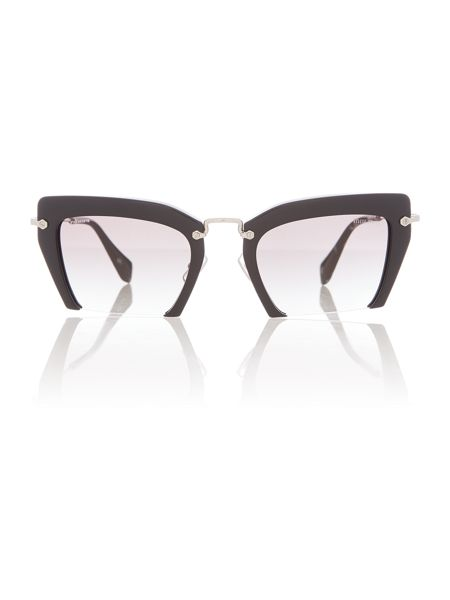 Miu Miu Mu 10qs female black square sunglasses