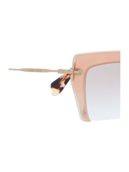 Miu Miu Mu 10qs female brown square sunglasses