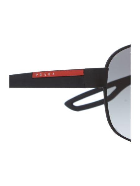 Prada Linea Rossa Ps 58qs male black rectangle sunglasses