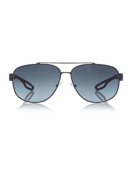 Prada Linea Rossa Ps 58qs male grey rectangle sunglasses