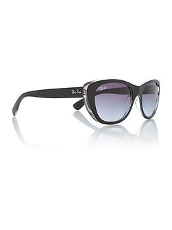 Rb4227 female black square sunglasses