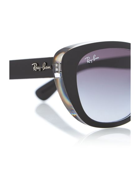 Ray-Ban Rb4227 female black square sunglasses